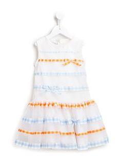 gingham check tulle dress