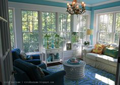 Colorful Sunroom and the rest of this house tour