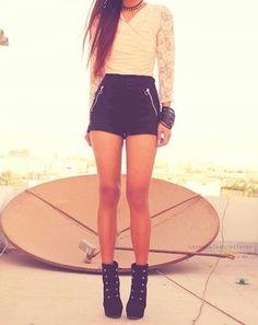 a804eae495e9 I want some high waist black shorts like this