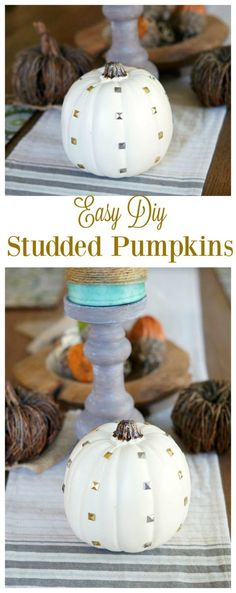 Easy DIY Studded Pumpkins