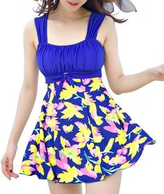 b17f135b74345 Your Gallery Women PLus Size Modest Elegant Padded One Piece Swimdress  BUtterfly Floral Dress Swimsuit - gallery breaker coupon