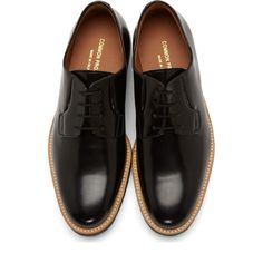 Common Projects Black Crepe Sole Derbys