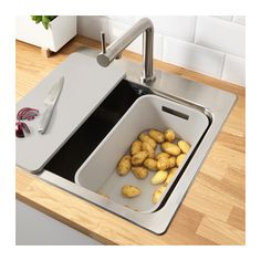 GRUNDVATTNET Rinsing tub IKEA You can use the rinsing tub as a divider in a sink with one bowl to create two bowls.