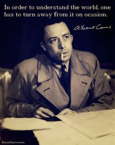 INFJ/INFP Albert Camus