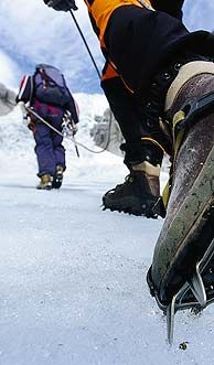 Crampons are a must when walking on a glacier - Photo: Terje Rakke/Nordic Life/Fjord Norway