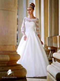 Kleidung & Accessoires Offen Kurzes Brautkleid Grösse 38 Bianco Evento In Ivory Elegant Im Stil Brautkleider