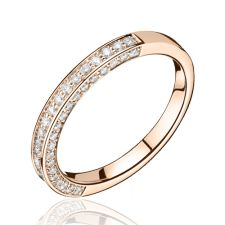 Alliances Mariage   Alliance diamant et or rose Eloïse