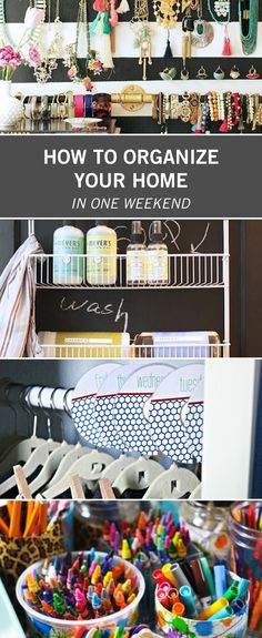 Spring is just around the corner, and you know what that means: it's time for some serious cleaning and organizing. We know it can be overwhelming to think about refreshing every inch of the house until it's perfect. So never fear — we've collected some clever and simple ways to tackle most rooms in your home in just one weekend, so you never have to think about it again (until next year)! For example try out our fridge organization in your kitchen or DIY clothing labels for your kids'…