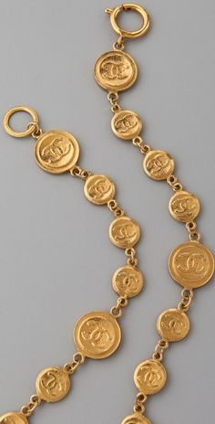 vintage Chanel coins necklace