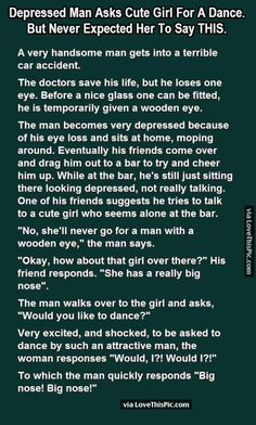 Depressed Man Asks Cute Girl For A Dance But Never Expected Her To Say This funny jokes story