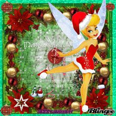 blingee app christmas tinkerbell - Google Search