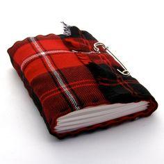 Scottish Tartan Kilt Journal in Red and Black Plaid