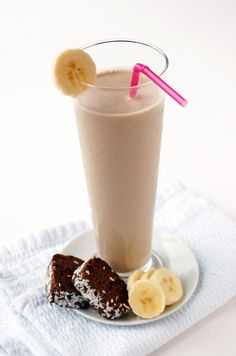 Banoffee milkshake - This is really good! I didn't use the carob or agave (my peanut butter has honey in it) added a couple squirts of Hershey's syrup, and used rice milk instead of soy. Definitely add ice for chilled. Delicious!