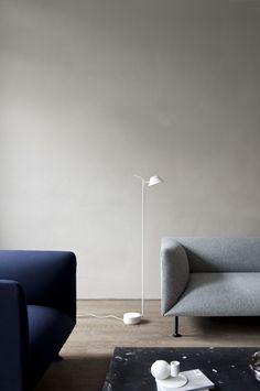 MENU Gotot sofa, Plinth marble table & Peek floor lamp