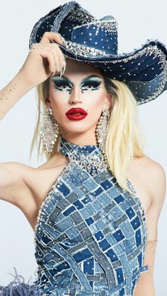 America's Next Drag Superstar Age of Aquaria Rupaul Drag Queen, Drag Queen Makeup, Denim And Diamonds, Amazing Women, Pin Up, Fashion Photography, Girly, Glamour, Photoshoot
