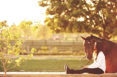 A girl and her horse - perfect