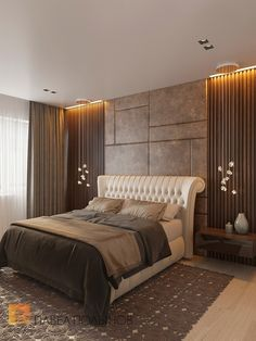 Bedroom Lighting Inspirations - Luxury Lamps Design - Let yourself be inspired by beautiful shapes, colors and designs from many types of lighting pieces - Modern Luxury Bedroom, Luxury Bedroom Design, Master Bedroom Interior, Modern Master Bedroom, Bedroom Furniture Design, Master Bedroom Design, Minimalist Bedroom, Contemporary Bedroom, Luxurious Bedrooms