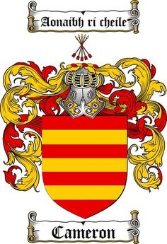 My Great Grandfather's Side-Cameron Family Crest. (Scotland)