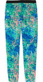 SANDRO  Pressage tapered floral-print twill pants  $285