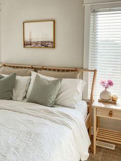 #HomeDecorNearMe Home Decor Near Me, Home Decor Sites, Room Ideas Bedroom, Home Decor Bedroom, Calm Bedroom, Bed Linen Sets, Duvet Sets, Sage Green Bedroom, Home Decor Fabric
