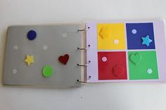 quiet book - matching shapes http://playinghouseinmaryland.blogspot.com/2011/09/diy-quiet-book-fast-easy.html