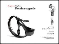 Domina et Gaude - Marquissima Plug Pump, Les Jeux du Marquis meets @ainsleytshoes .Download Press Release: