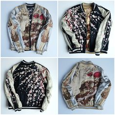 The Biggest Online Curation for Japanese Souvenir Jackets plus other Vintage and Antiques Curios. International Clothing, Casual Outfits, Fashion Outfits, Outerwear Jackets, Bomber Jackets, Harajuku Fashion, Fall Winter Outfits, Japanese Fashion, Pretty Outfits