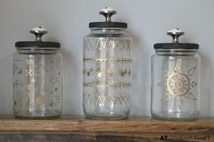 How to Turn Jars from the recycle bin into fun and pretty storage.by Just Using a Paint Marker !