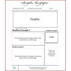 Create a newspaper article online