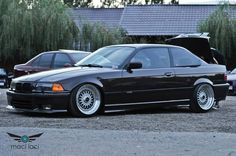 """BMW e36 coupe on cult classic BBS RS """"true 17"""" wheels"""
