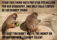 If monkeys were in charge of the publishing industry. No, wait...