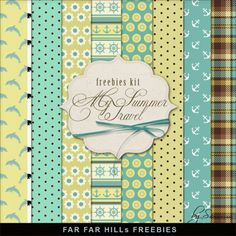 New Freebies Kit of Background - Summer Travel by Far Far Hill