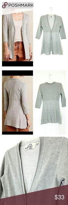 Rosie Neira anthropologie cardigan M Rosie Neira gray cardigan sweater.  Size medium.  Excellent condition. Anthropologie Sweaters Cardigans