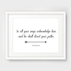 Bible Verse Print Printable Scripture Arrow by MelindaWoodDesigns, $5.00 like this for entryway as you leave the house
