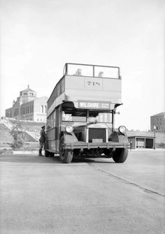 Los Angeles once had double-decker transit buses. Here's one on the UCLA campus in 1931. (USC Libraries/Dick Whittington Photography Collection)