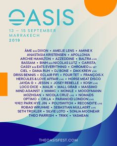 All about Oasis Festival and all the best music festivals around the world, including news, lineups, locations and tickets! Festival Flyer, Festival Posters, Four Tet, Festivals Around The World, Flyers, Good Music, Oasis, African, Ruffles