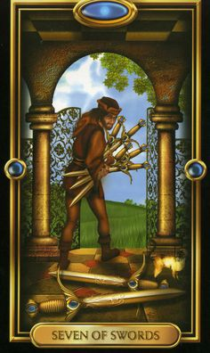 Four of Pentacles Gilded Tarot | of Swords