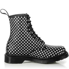 Dr. Martens boots 1460 Black And White Pascal $125.00
