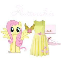 Fluttershie by kristenaviles on Polyvore featuring polyvore, fashion, style, MSGM, P.A.R.O.S.H., Ted Baker and Tarina Tarantino
