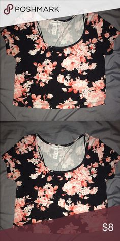 Floral Crop top Cute stylish crop top Ambiance Apparel Tops Crop Tops