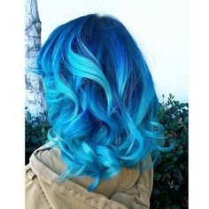Blue two tone hair color