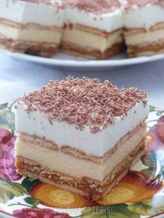 Ciasto bez pieczenia z budyniem i herbatnikami Food Cakes, Tiramisu, Cake Recipes, Sweets, Cooking, Ethnic Recipes, Kitchen, Author, Cakes