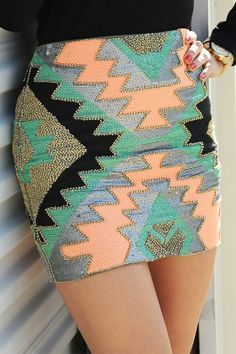 Life Of the Party Skirt: Multi on InStores