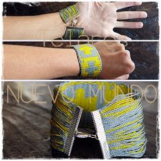 My first textile jewel. Textiles, Chile, Weaving, Jewels, Jewellery, Design, World, Bracelets, Bangle Bracelets