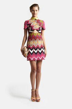 Chevron dress by Carven 2012