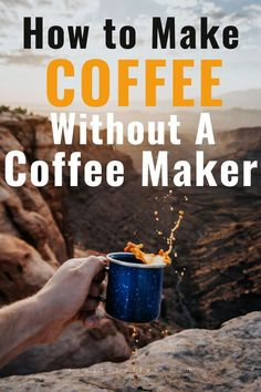 If you�ve got limited supplies on hand, you can make coffee without a coffee maker! Using kitchen basics, you can brew up a cup or even a pot of coffee right wherever you are. #coffee Coffee Barista, Coffee Humor, Coffee Maker, Hot Coffee, Craving Coffee, Vietnamese Iced Coffee, Coffee Is Life, Coffee Lovers, Coffee Facts