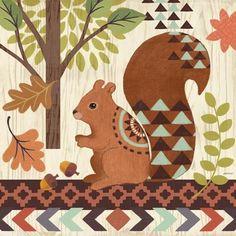 Woodland Friends-Squirrel by Jennifer Brinley | Ruth Levison Design
