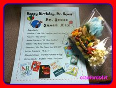 Dr. Seuss snack mix for Dr. Seuss' Birthday.