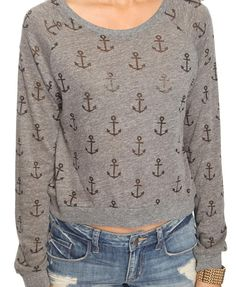 Heathered Anchor Top  $14.80