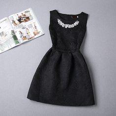 2016 Fashion women dress sleeveless vintage summer dress new arrival party dresses hot sale print dresses  vestidos